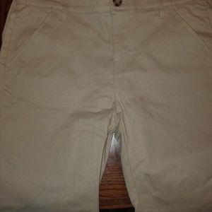 2 pair of old navy khaki uniform shorts